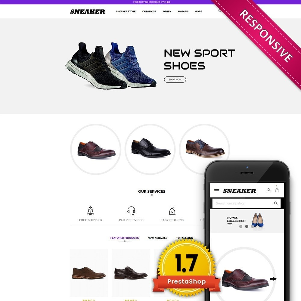 theme - Mode & Schoenen - Sneaker Shoe Store - 1