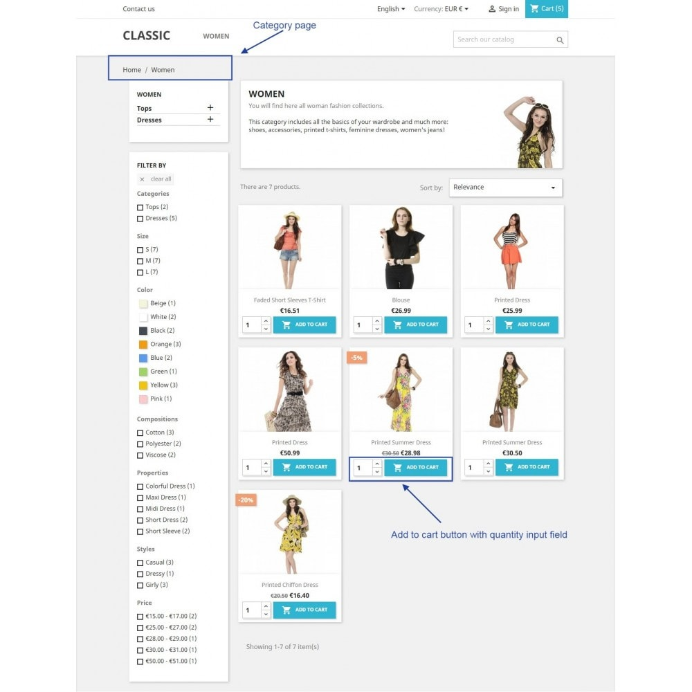 module - Registration & Ordering Process - Show add to cart button product list / category page - 3
