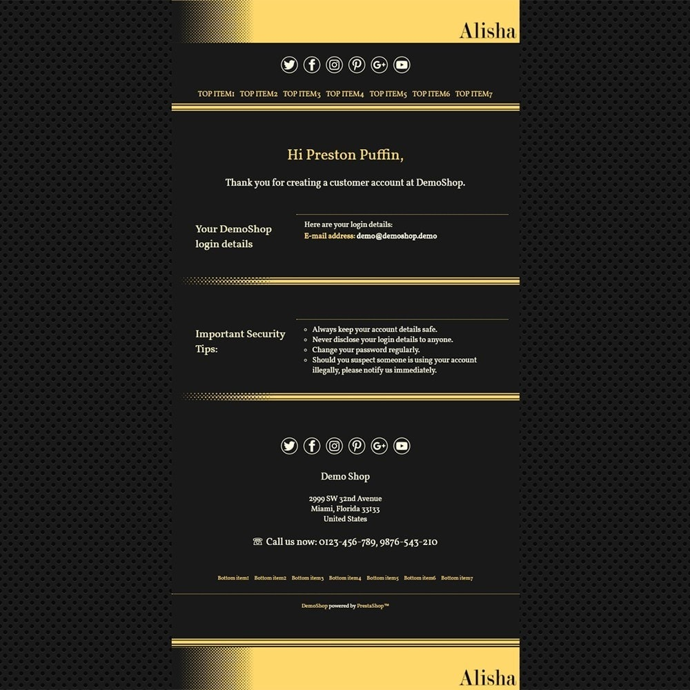 email - Templates d'e-mails PrestaShop - Alisha - Email templates - 2