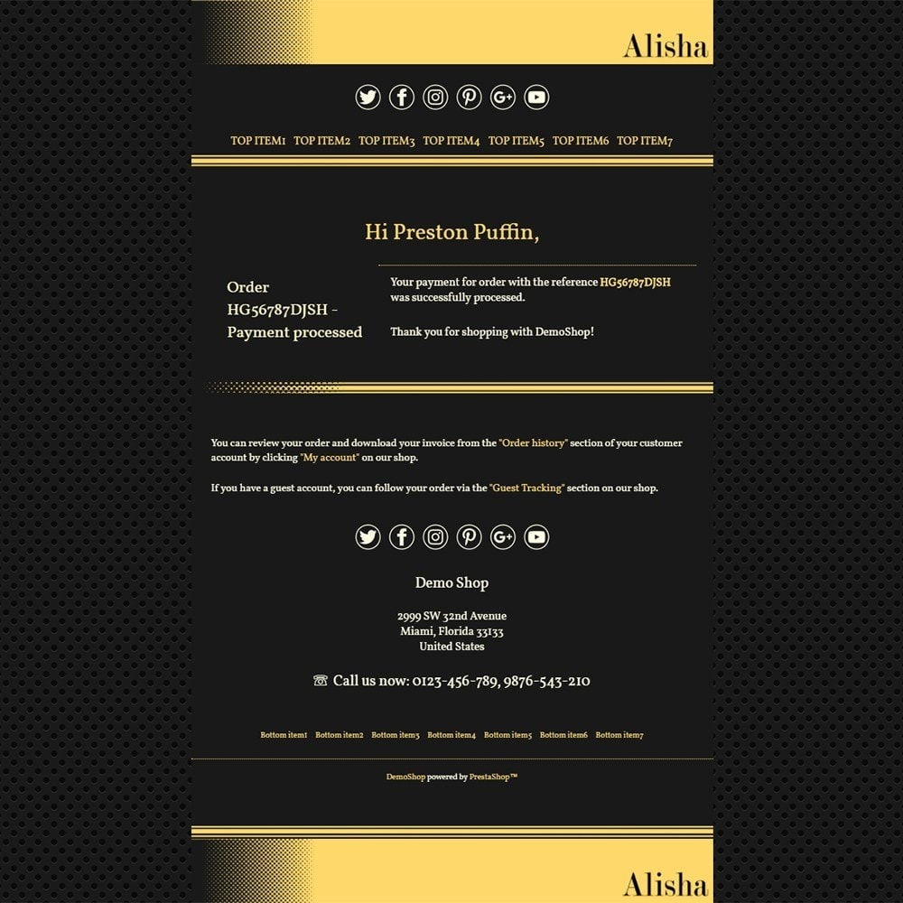 email - Email templates PrestaShop - Alisha - Email templates - 3