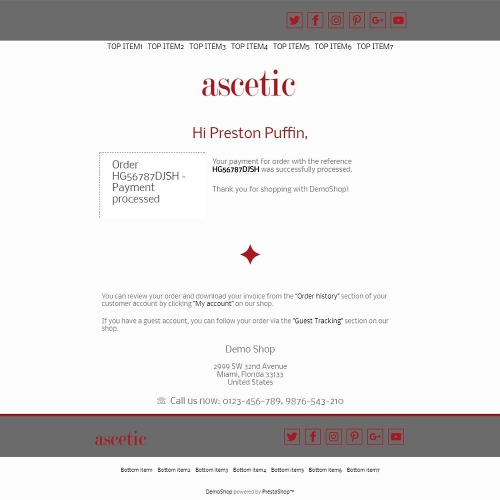 email - Template di e-mail PrestaShop - Ascetic - Email templates - 3