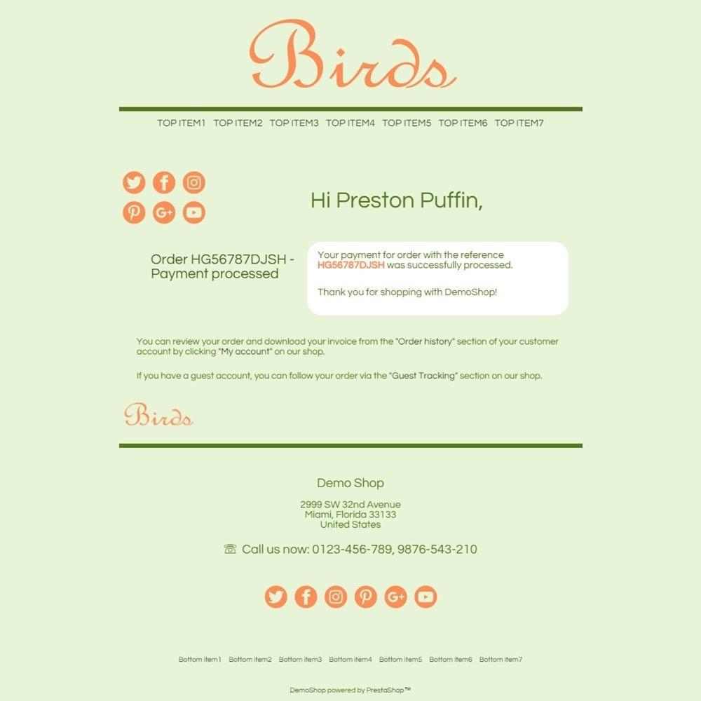 email - Template di e-mail PrestaShop - Birds - Email templates - 3