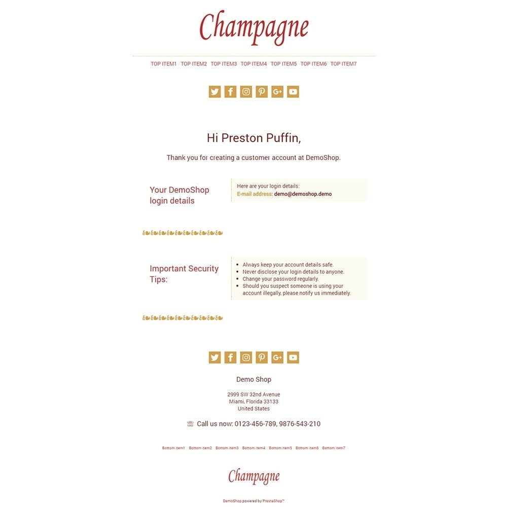 email - Templates d'e-mails PrestaShop - Champagne - Email templates - 2