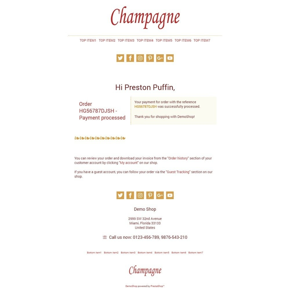 email - Templates d'e-mails PrestaShop - Champagne - Email templates - 3