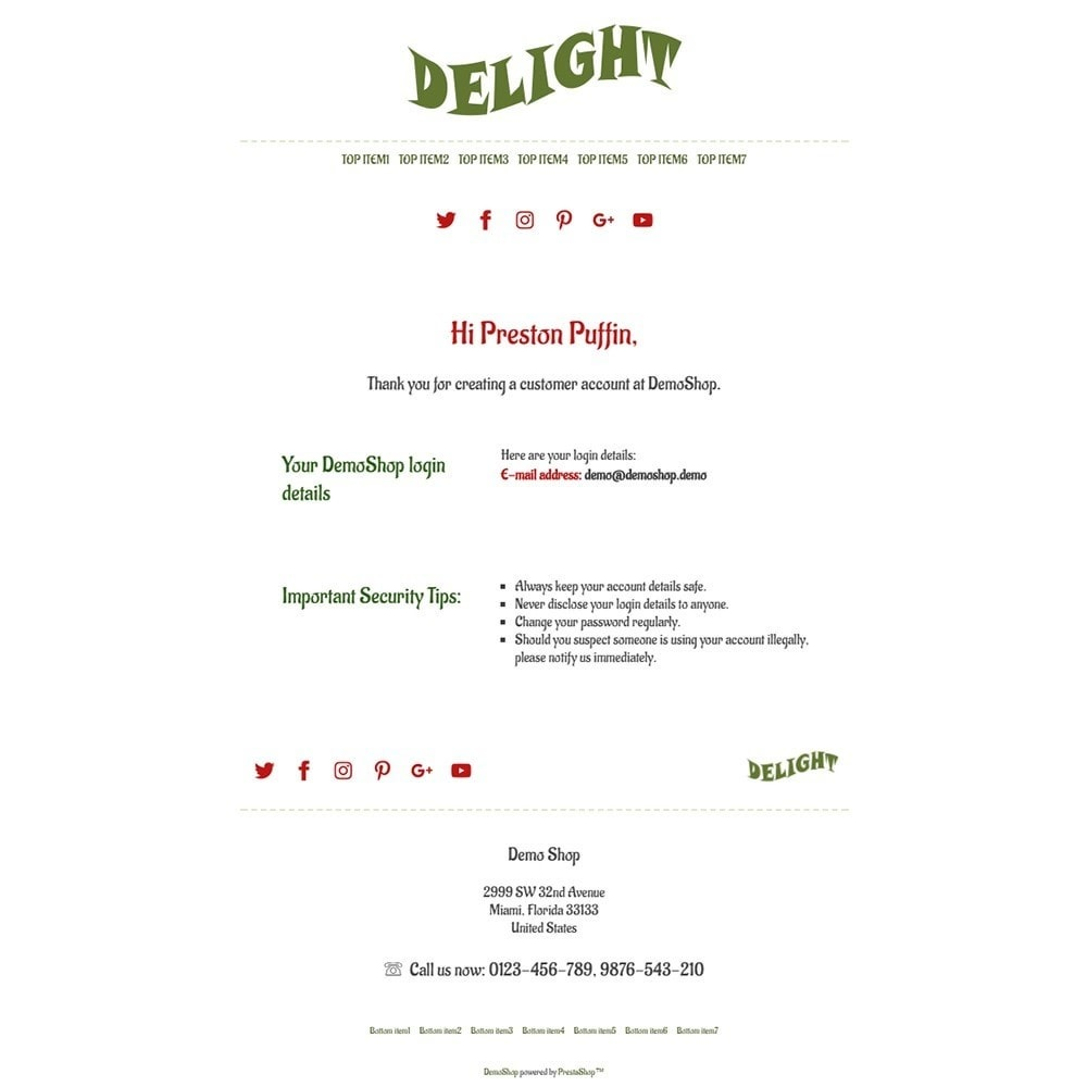 email - Email templates PrestaShop - Delight - Email templates - 2