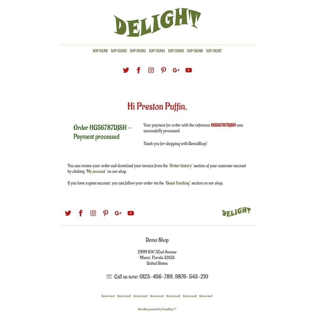 email - PrestaShop email templates - Delight - Email templates - 3