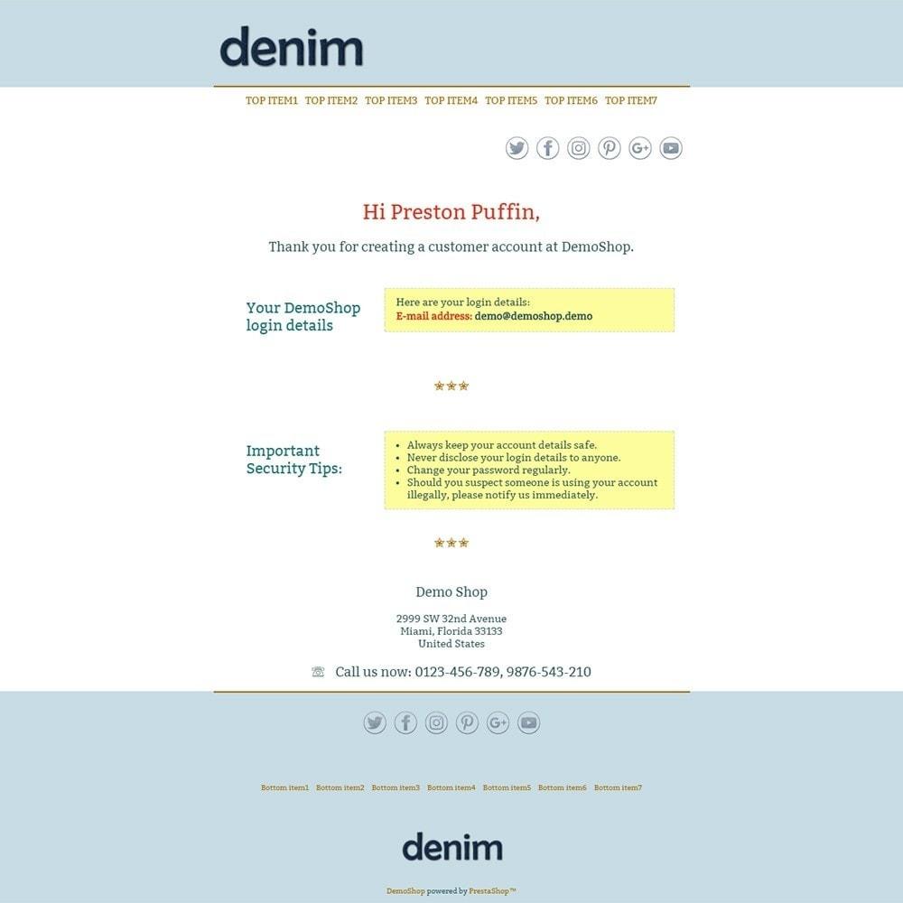 email - PrestaShop email templates - Denim - Email templates - 2
