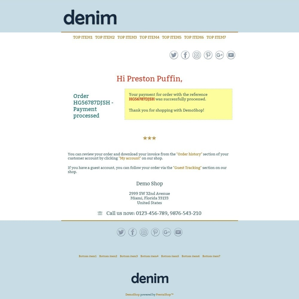 email - PrestaShop email templates - Denim - Email templates - 3