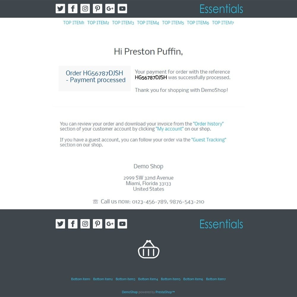 email - Template di e-mail PrestaShop - Essentials - Email templates - 3