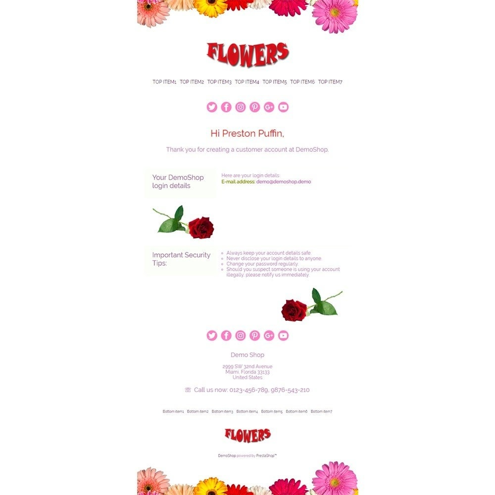 email - Template di e-mail PrestaShop - Flowers - Email templates - 2