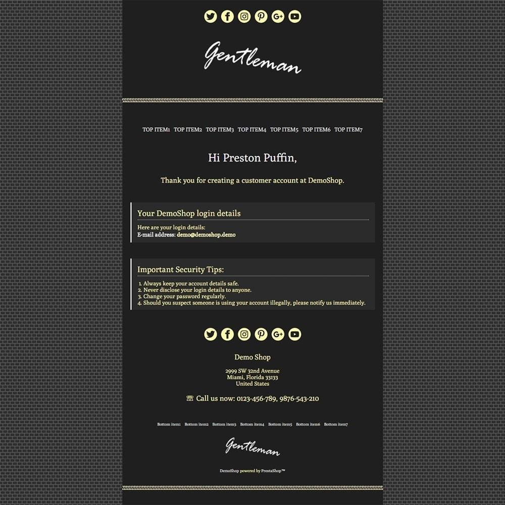email - Email templates PrestaShop - Gentleman - Email templates - 2