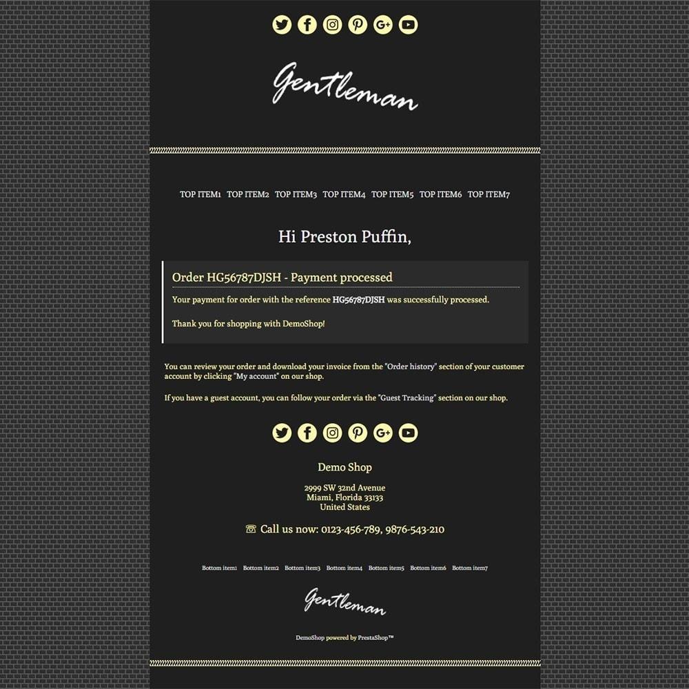 email - Email templates PrestaShop - Gentleman - Email templates - 3