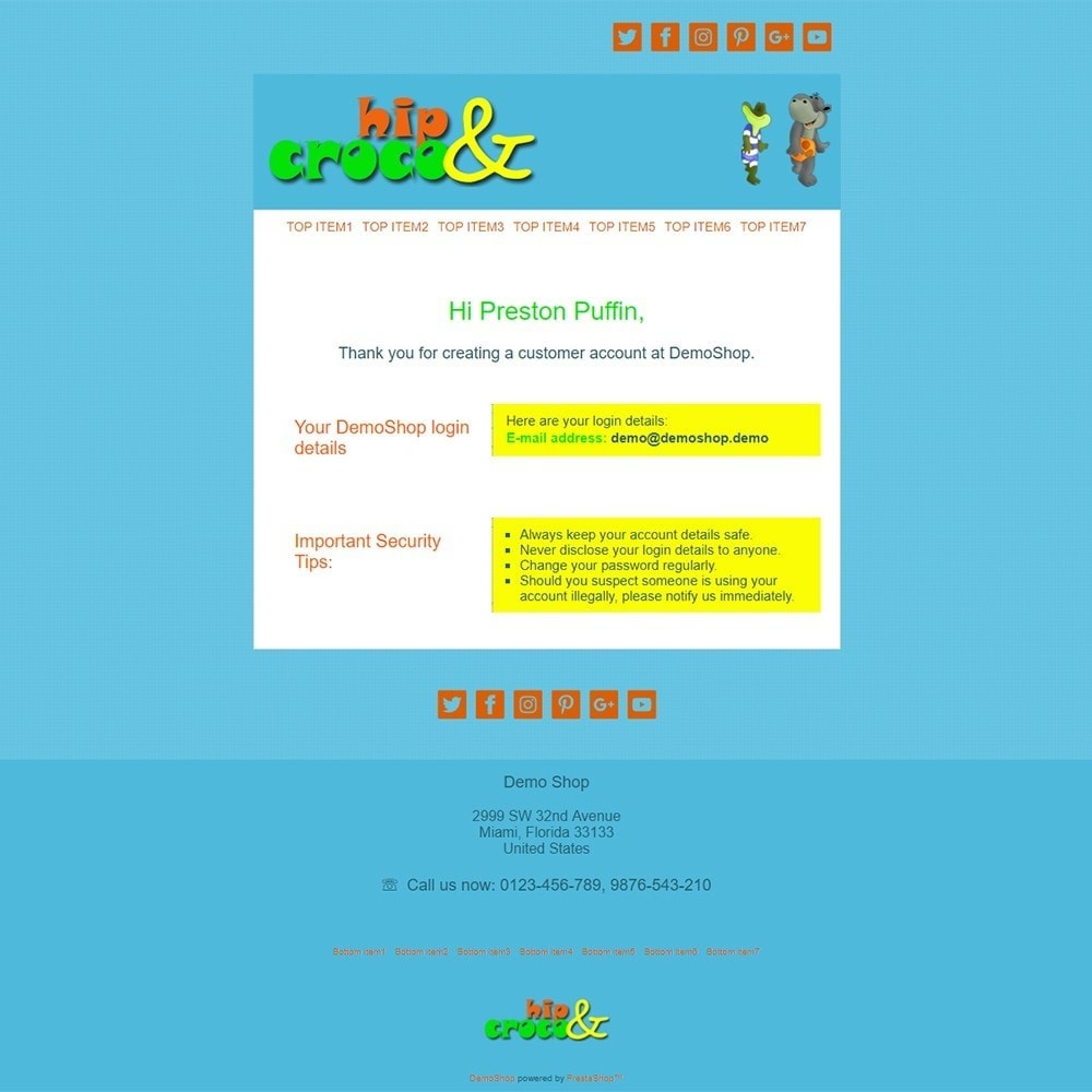 email - Szablony e-mail PrestaShop - Hip And Croco - Email templates - 2