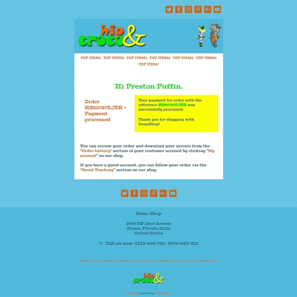 email - Szablony e-mail PrestaShop - Hip And Croco - Email templates - 3