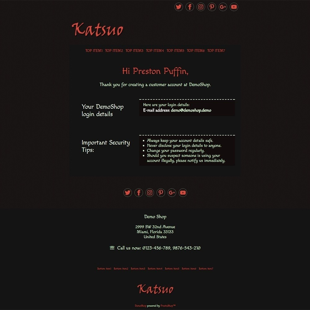 email - Szablony e-mail PrestaShop - Katsuo - Email templates - 2