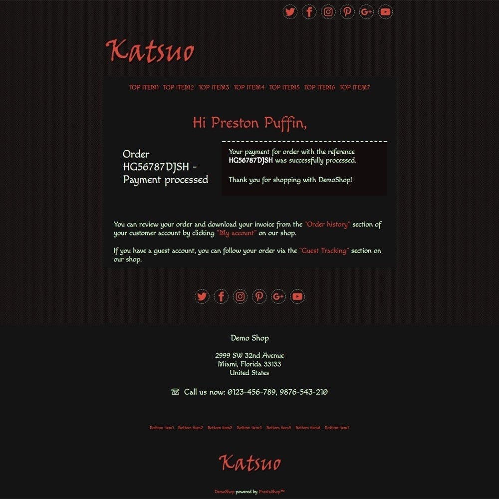email - Szablony e-mail PrestaShop - Katsuo - Email templates - 3