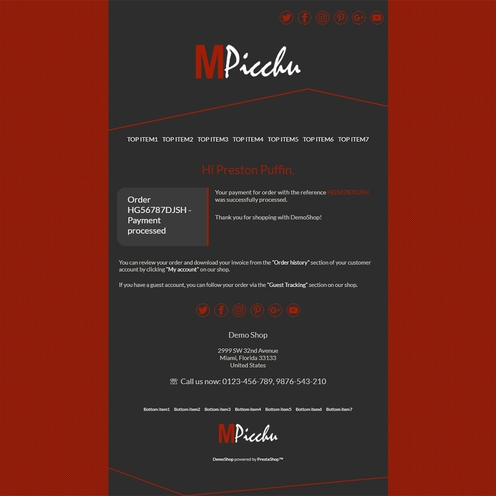 email - PrestaShop email templates - Machu Picchu - Email templates - 3