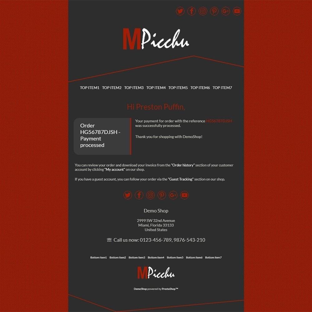 email - PrestaShop-E-Mail-Vorlagen - Machu Picchu - Email templates - 3