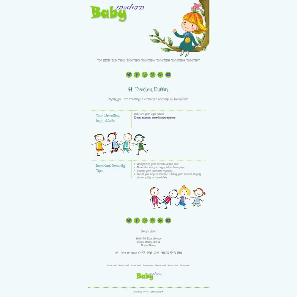email - Szablony e-mail PrestaShop - Modern Baby - Email templates - 2