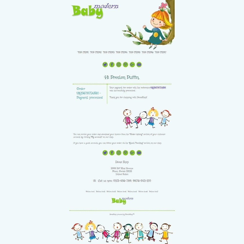 email - Szablony e-mail PrestaShop - Modern Baby - Email templates - 3