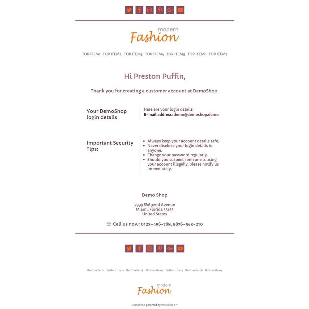 email - Szablony e-mail PrestaShop - Modern Fashion - Email templates - 2