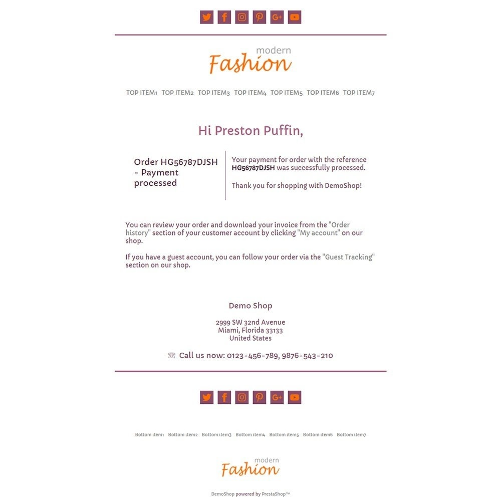 email - PrestaShop email templates - Modern Fashion - Email templates - 3