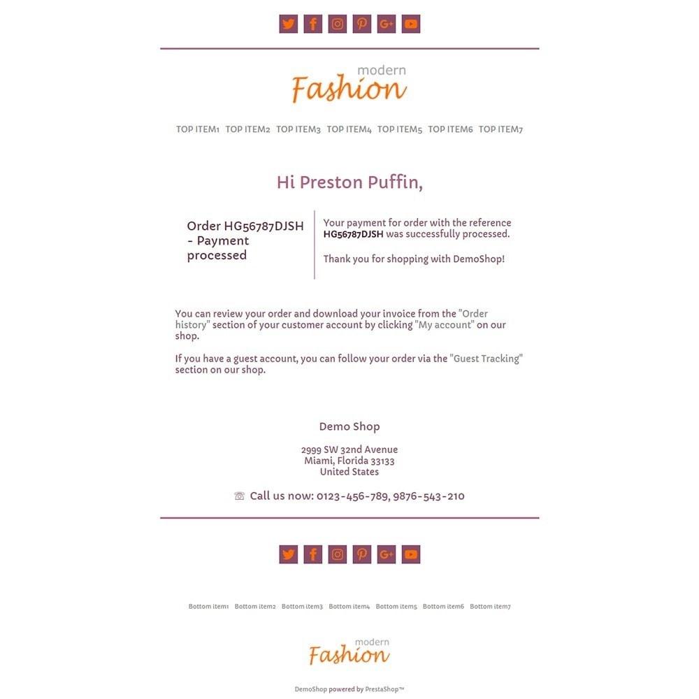 email - Szablony e-mail PrestaShop - Modern Fashion - Email templates - 3