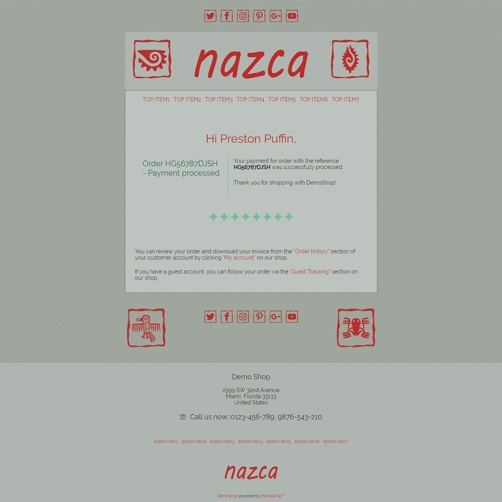 email - Szablony e-mail PrestaShop - Nazca - Email templates - 3