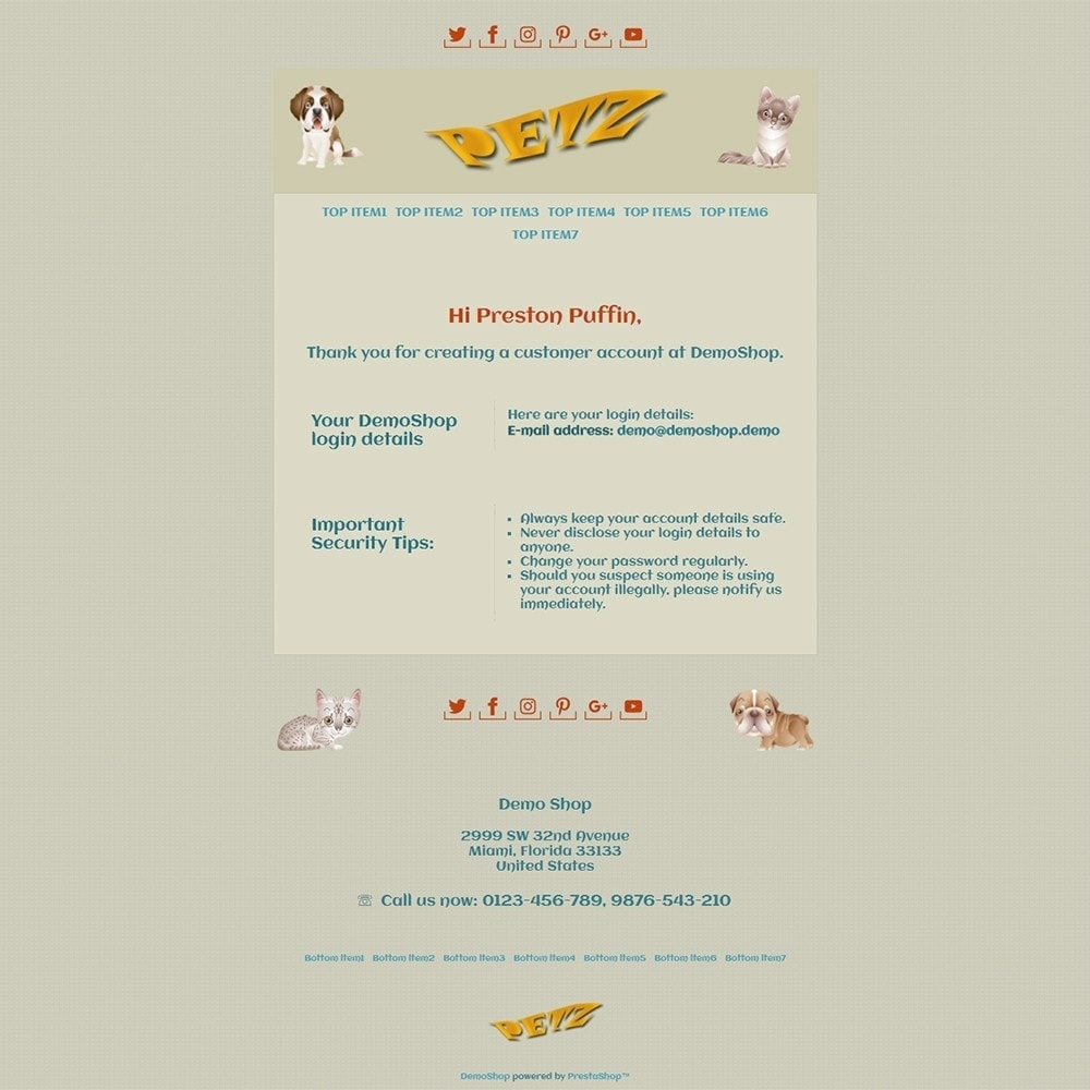 email - PrestaShop email templates - Petz - Email templates - 2
