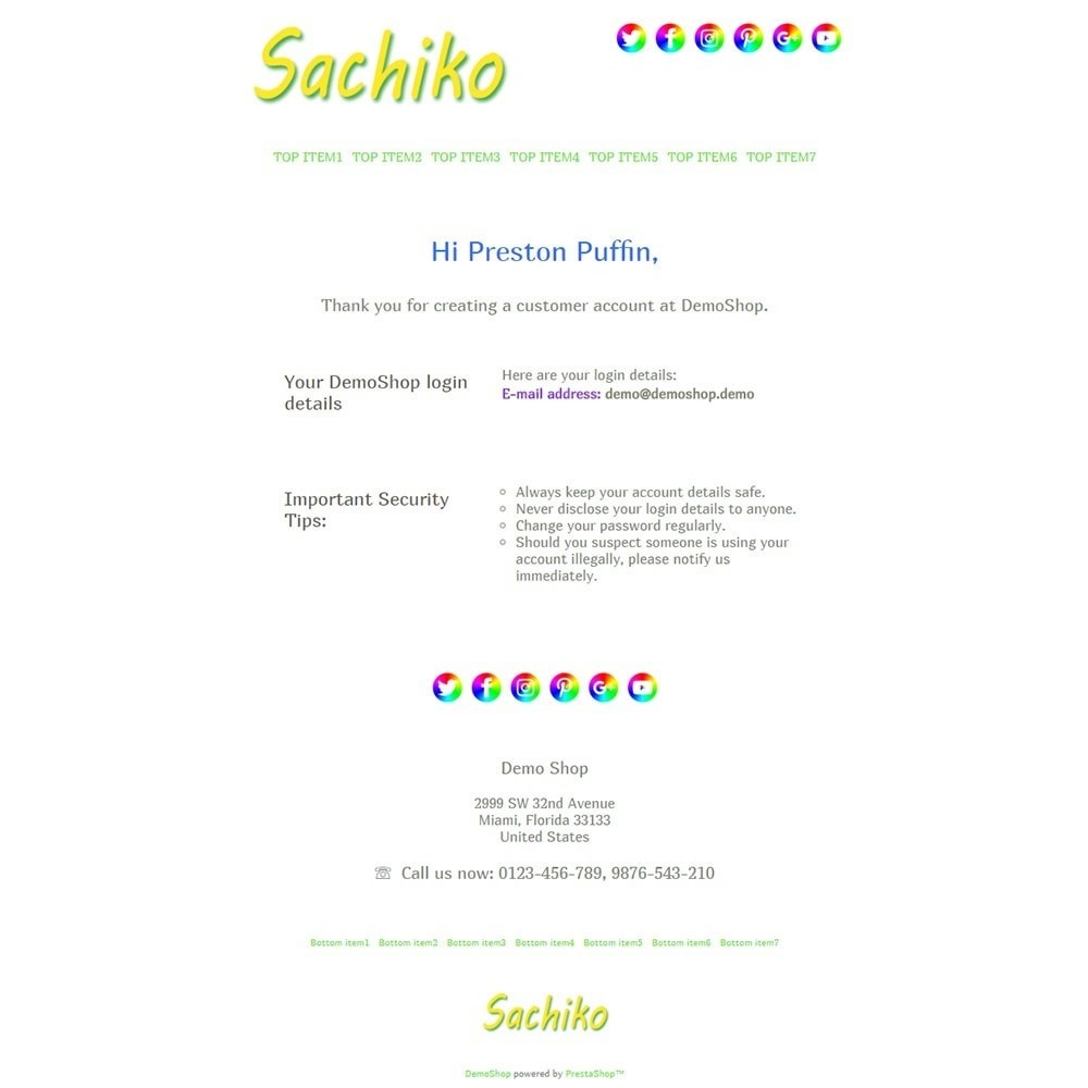 email - Template di e-mail PrestaShop - Sachiko - Email templates - 2