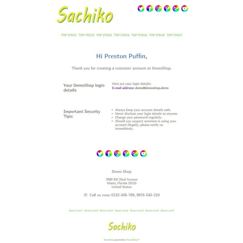 email - Plantillas de correos electrónicos PrestaShop - Sachiko - Email templates - 2
