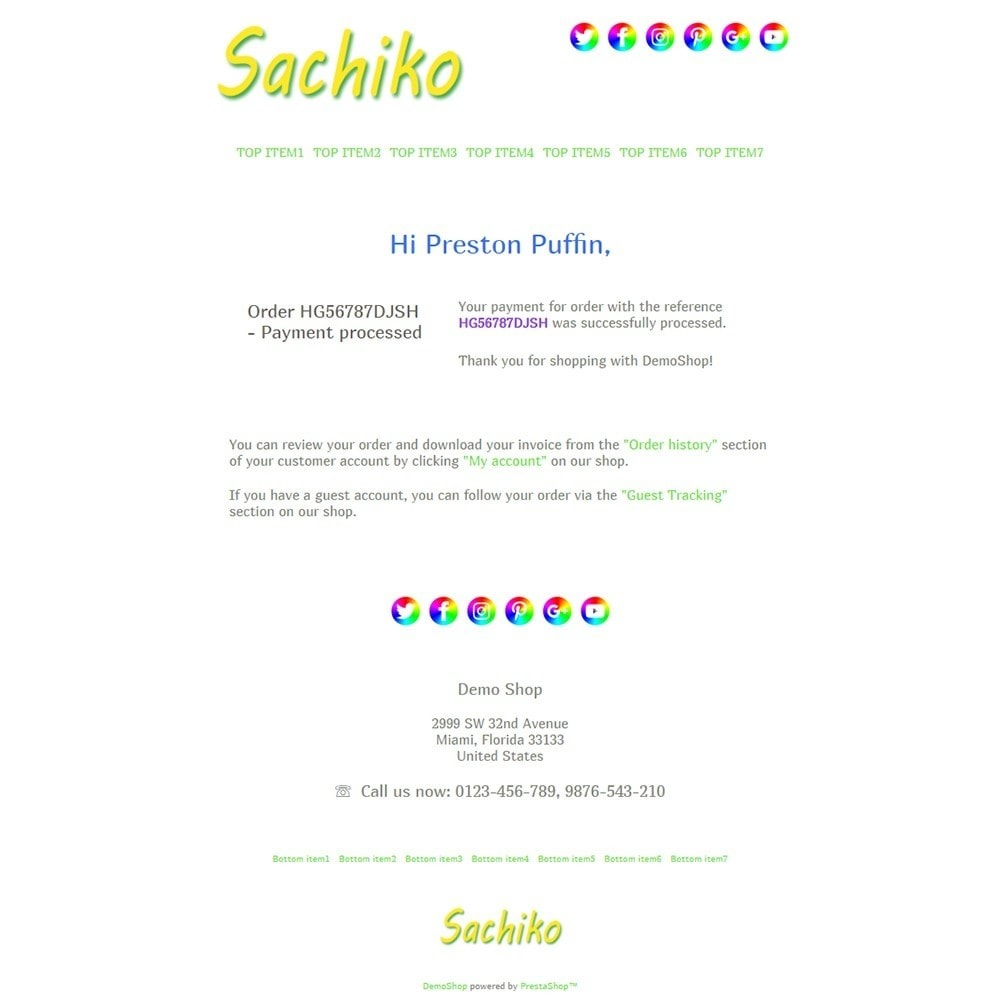 email - Template di e-mail PrestaShop - Sachiko - Email templates - 3