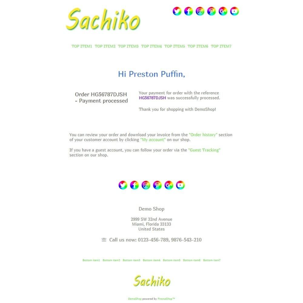 email - PrestaShop-E-Mail-Vorlagen - Sachiko - Email templates - 3