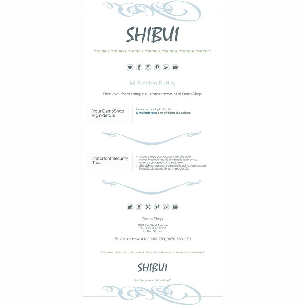 email - Email templates PrestaShop - Shibui - Email templates - 2
