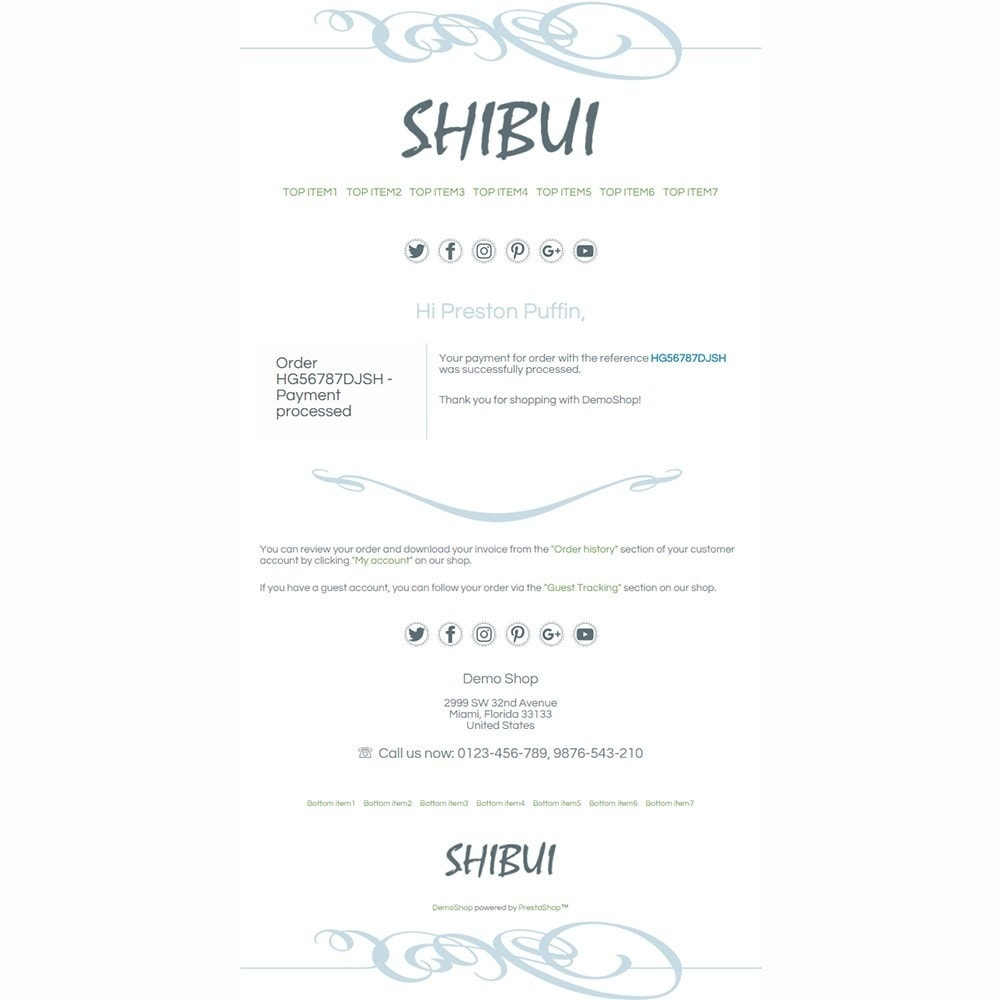 email - Email templates PrestaShop - Shibui - Email templates - 3