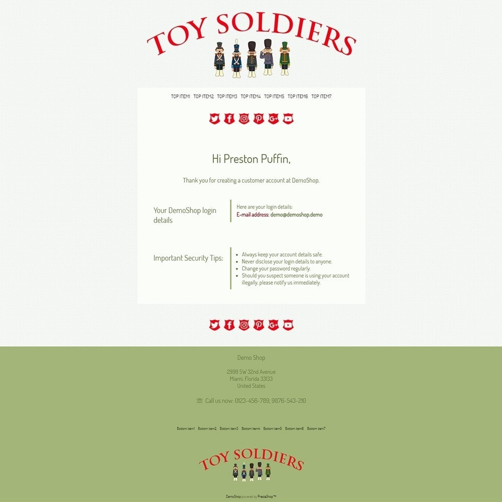 email - Szablony e-mail PrestaShop - Toy Soldiers - Email templates - 2