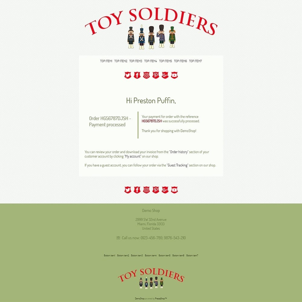 email - Szablony e-mail PrestaShop - Toy Soldiers - Email templates - 3