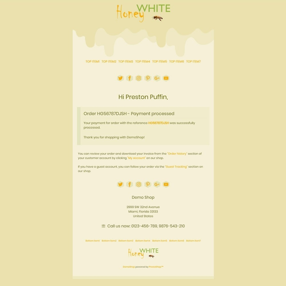 email - PrestaShop email templates - White Honey - Email templates - 3