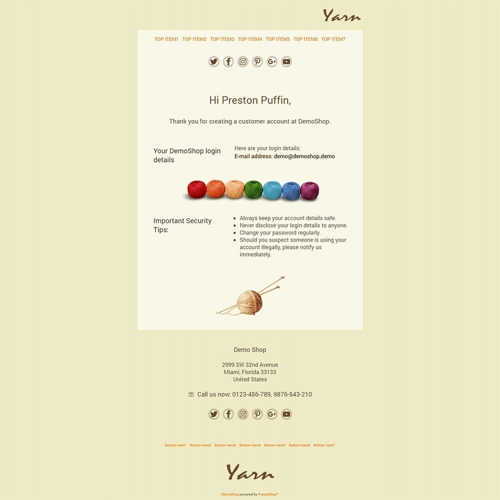 email - Templates d'e-mails PrestaShop - Yarn - Email templates - 2