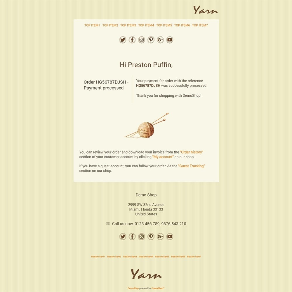 email - Szablony e-mail PrestaShop - Yarn - Email templates - 3