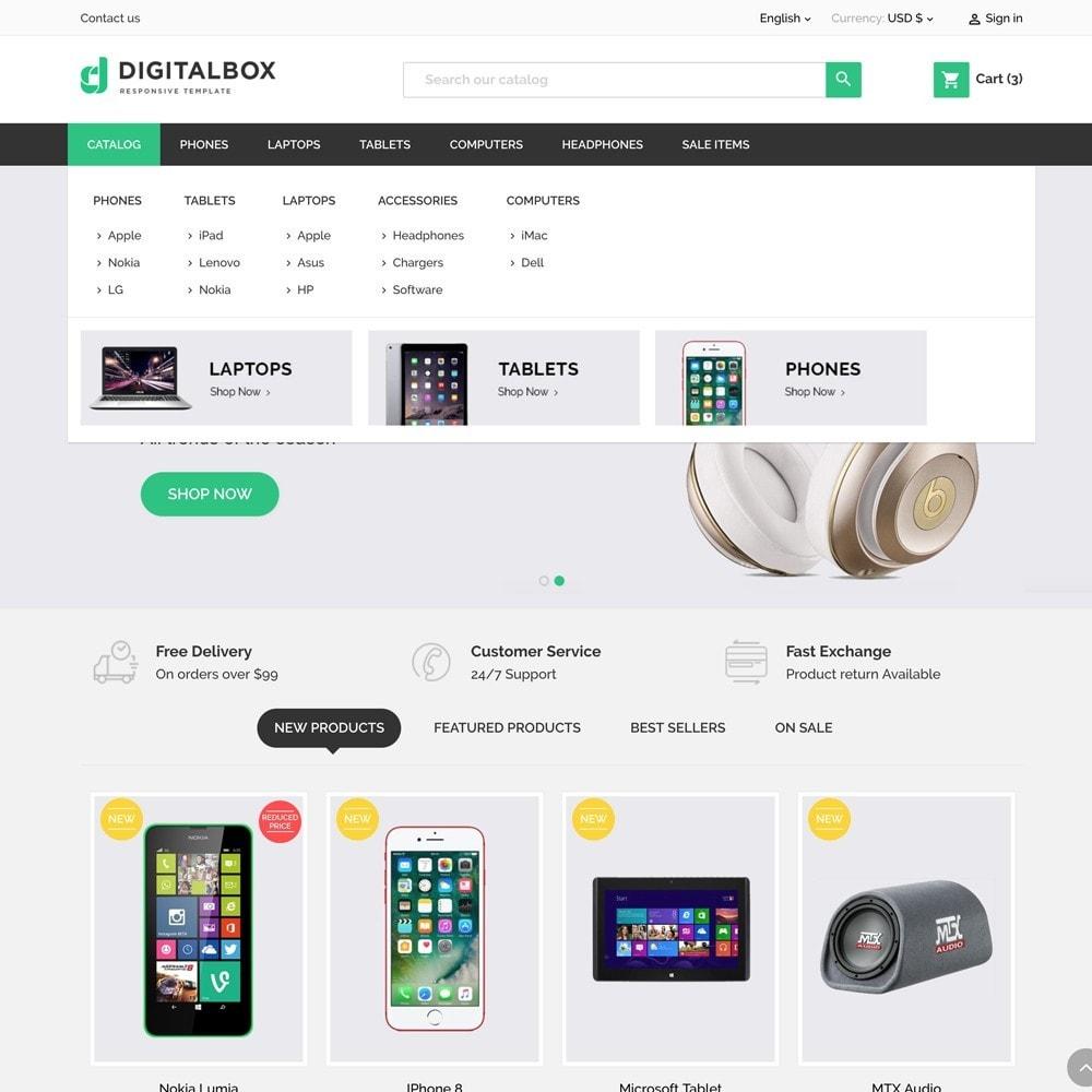 theme - Eletrônicos & High Tech - Digitalbox Electronics Store - 3