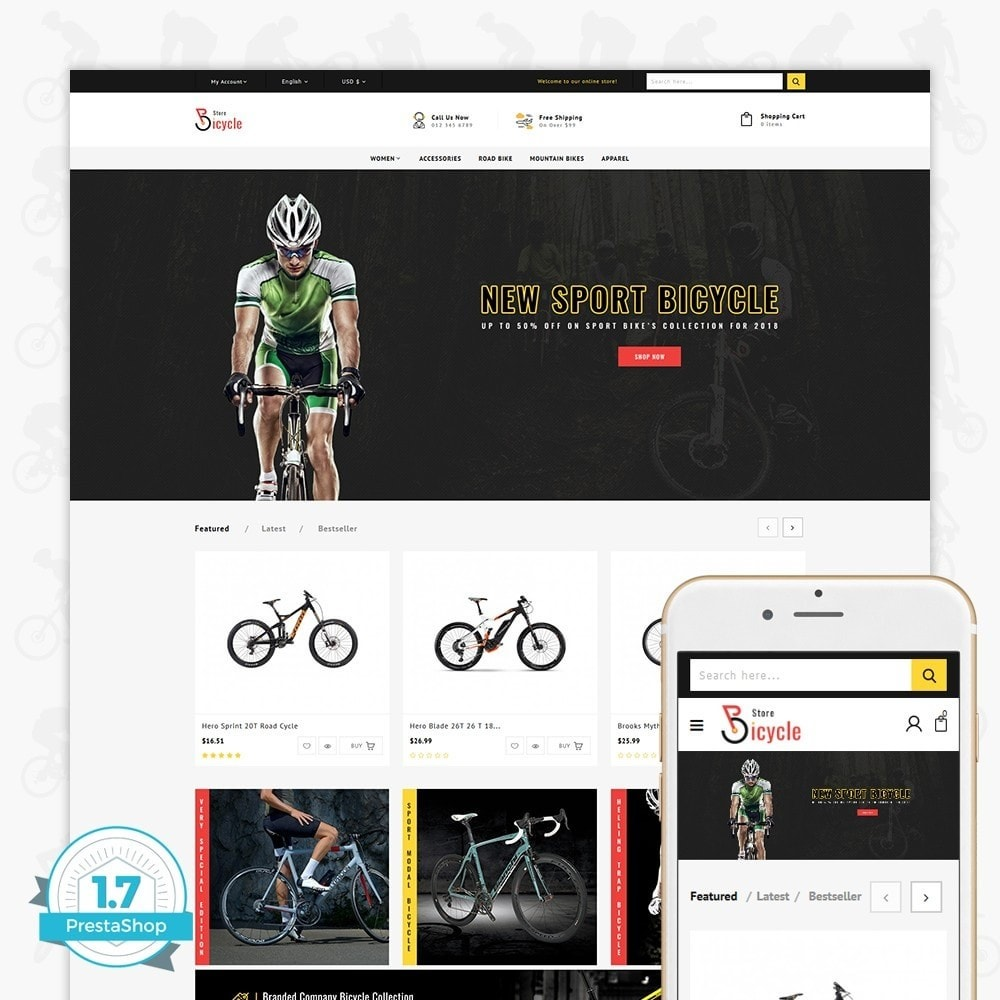 theme - Sports, Activities & Travel - Bicycle Sports Store - 1