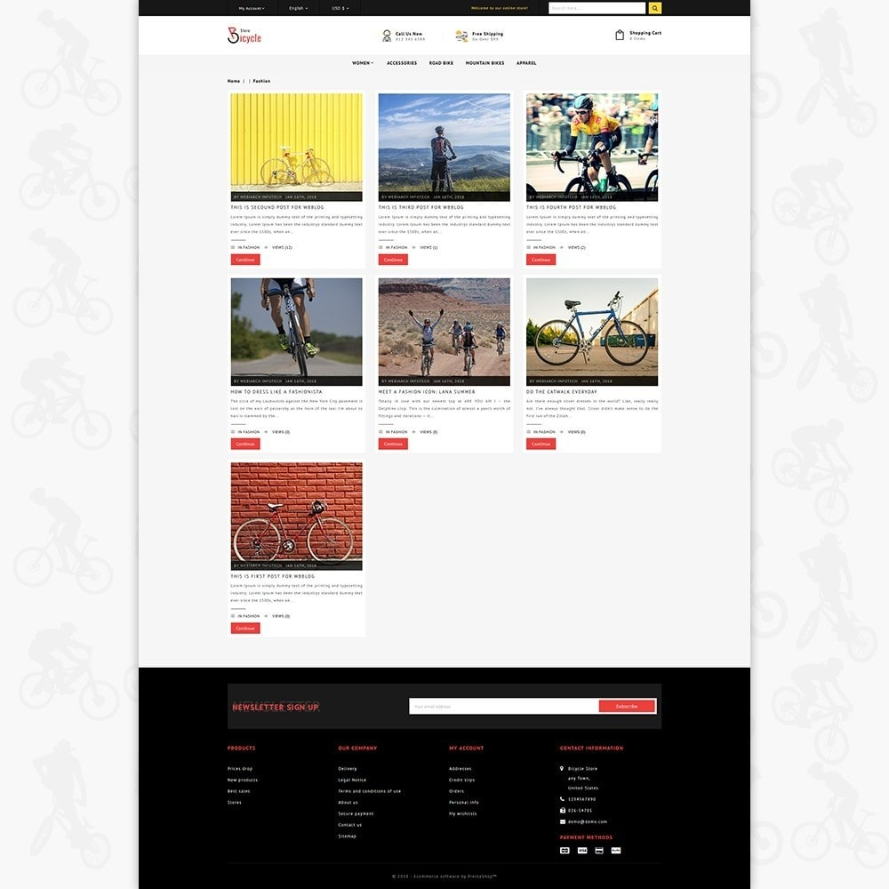 theme - Sports, Activities & Travel - Bicycle Sports Store - 6