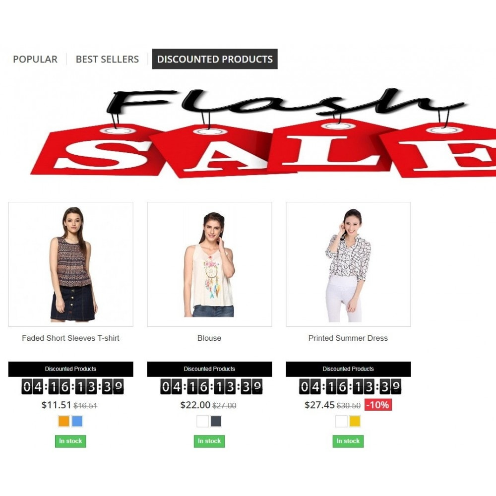 module - Ventes Flash & Ventes Privées - Knowband - Flash Sale Countdown Timer - 3