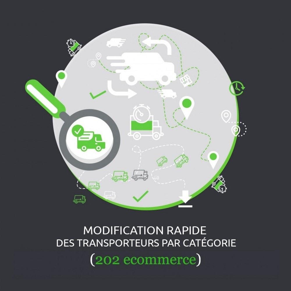module - Edition rapide & Edition de masse - Modification rapide des transporteurs par catégorie - 1