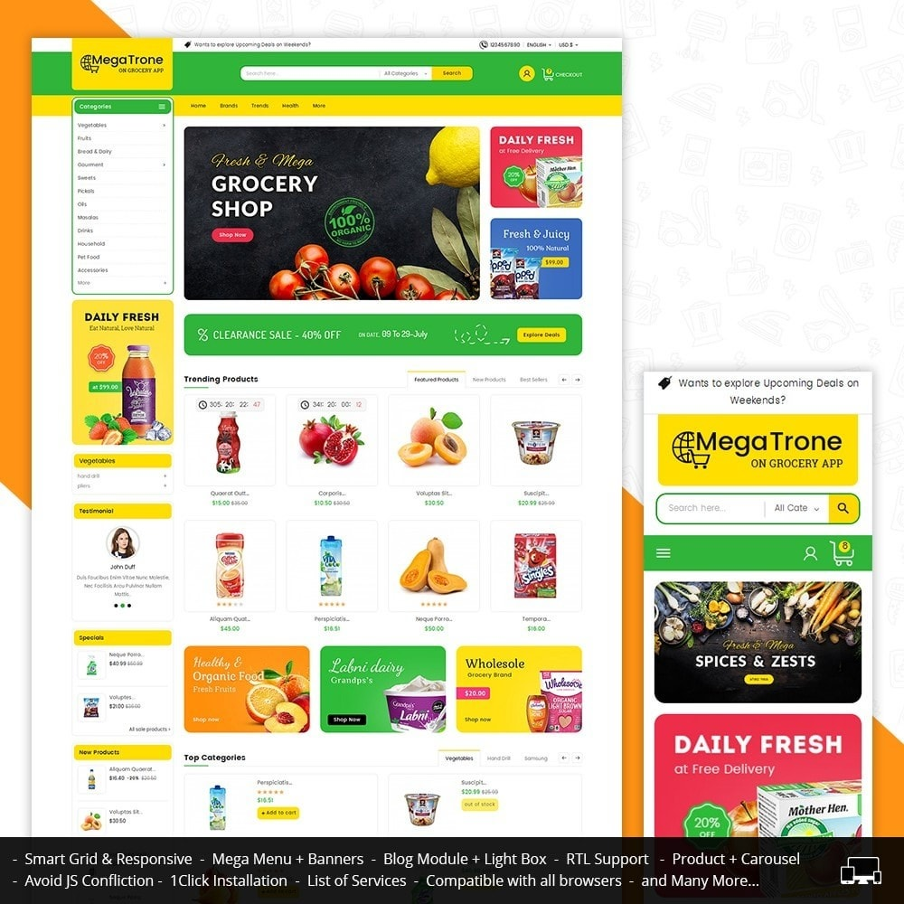 theme - Food & Restaurant - Mega Trone Grocery - 1
