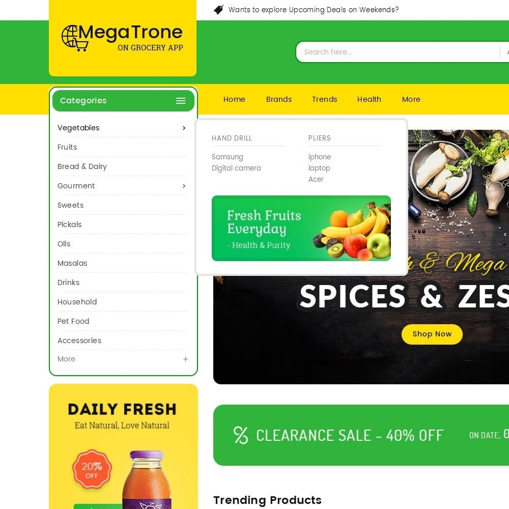 theme - Food & Restaurant - Mega Trone Grocery - 9