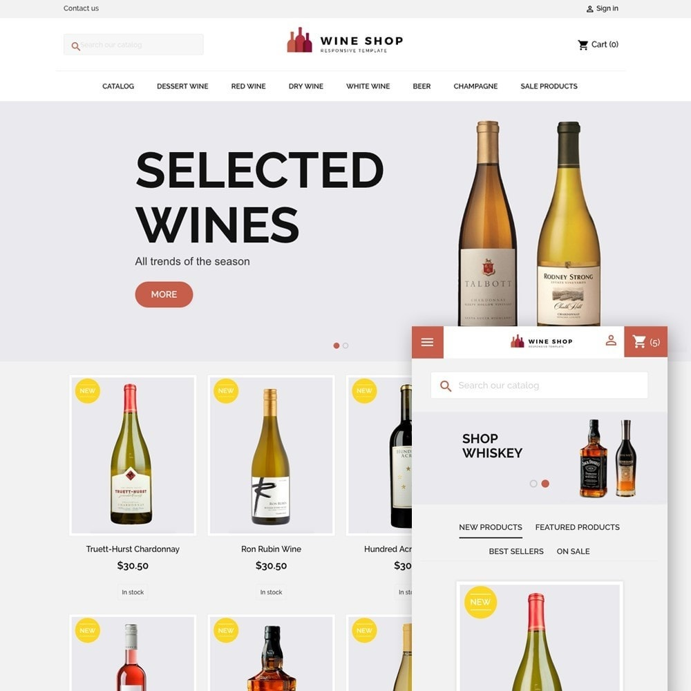 theme - Drink & Wine - WINESHOP - 1