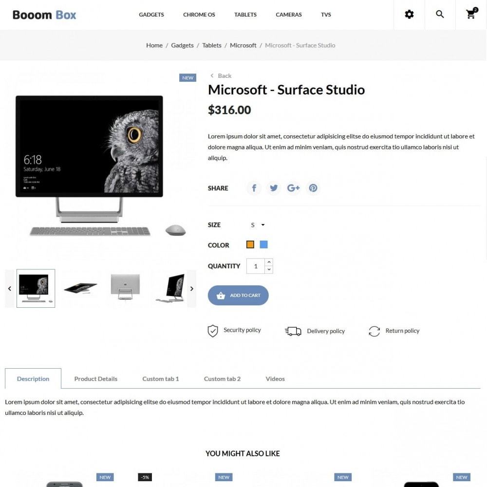 theme - Eletrônicos & High Tech - Booom box - High-tech Shop - 6