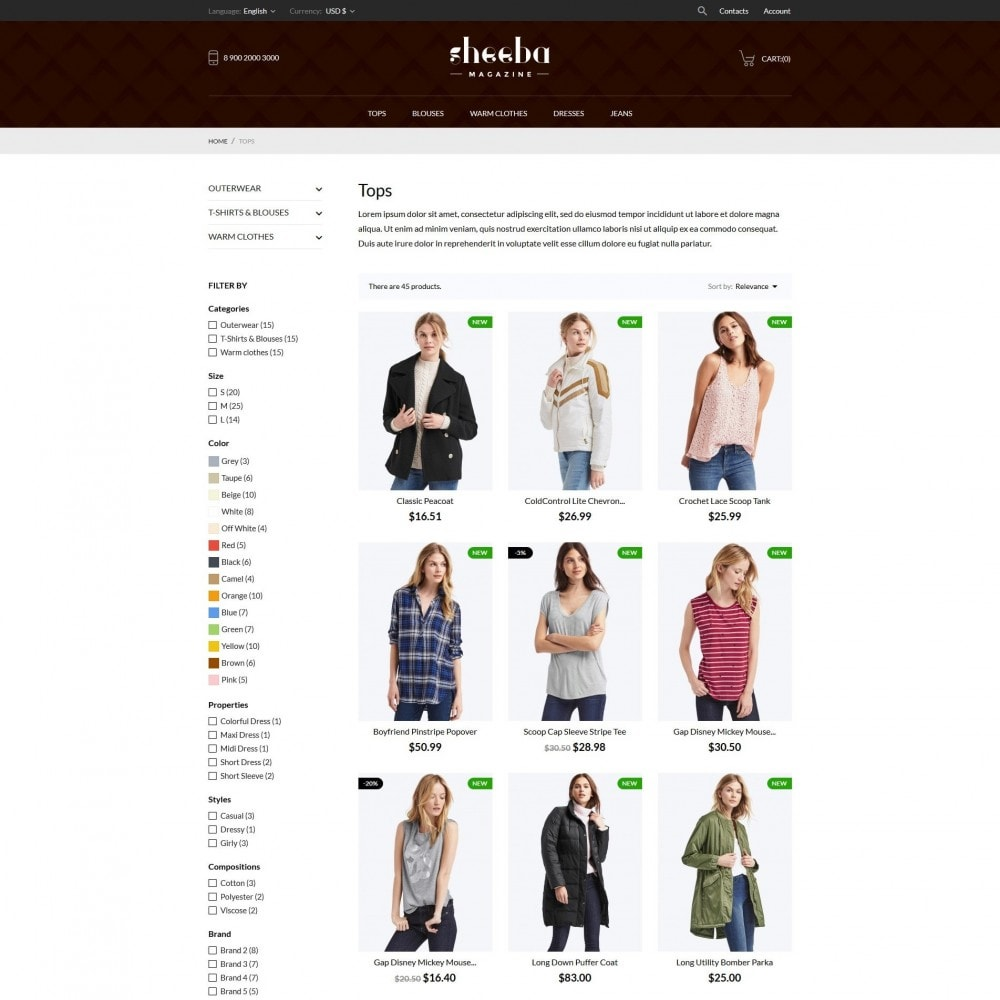 theme - Moda y Calzado - Sheeba Fashion Store - 6